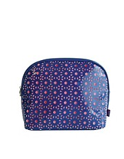 Tender Love &amp; Carry Cut Out Wash Bag -Navy &amp; Coral
