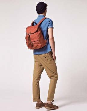 Image 3 ofASOS Aztec Trim Pocket Backpack