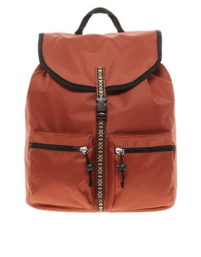 Image 1 ofASOS Aztec Trim Pocket Backpack
