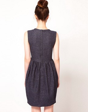 Image 2 ofPeter Jensen Neck Dart Dress in Lurex