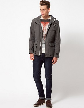 Image 4 ofBen Sherman Hooded Parka Jacket