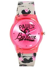 Paul&#39;s Boutique Neon Pink Graffiti Watch