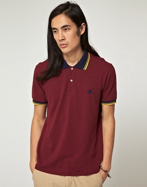 Image 1 ofBenson Vintage Marl Pique Polo