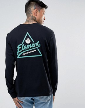 Element Ascent Long Sleeve T-Shirt With Triangle Back Print