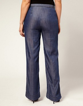 Image 2 ofASOS CURVE Tailored Wide Leg Jean With High Waist