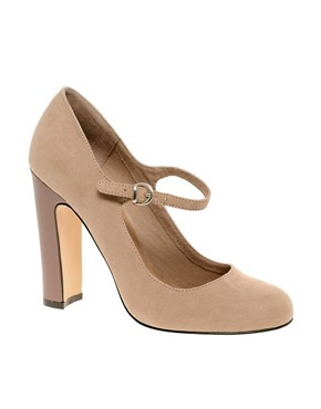 Image 1 ofASOS SUZIE Mary Jane Patent Heel Court Shoe