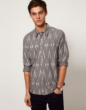 Image 1 ofASOS Shirt With Ikat Print
