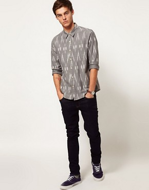 Image 4 ofASOS Shirt With Ikat Print