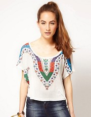 WkShp Slouchy Cropped T-Shirt