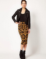 ASOS Pencil Skirt in Baroque Print