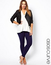 ASOS CURVE Exclusive Legging In Navy