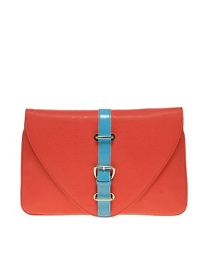 Image 1 ofASOS Contrast Buckle Clutch