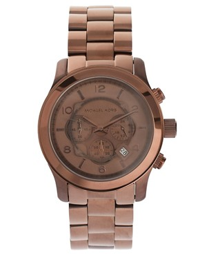 Image 1 ofMichael Kors MK8204 Oversized Runway Watch Exclusive to ASOS