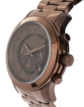 Image 4 ofMichael Kors MK8204 Oversized Runway Watch Exclusive to ASOS