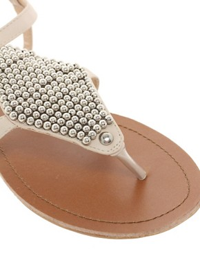 Image 2 ofASOS FANCY Studded Flat Sandals