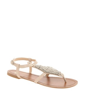 Image 1 ofASOS FANCY Studded Flat Sandals
