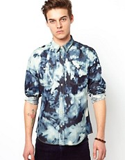 ASOS Denim Shirt With Tie Dye