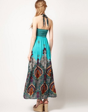 Image 2 ofWarehouse Bali Print Maxi Dress