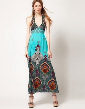 Image 4 ofWarehouse Bali Print Maxi Dress