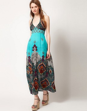 Image 1 ofWarehouse Bali Print Maxi Dress