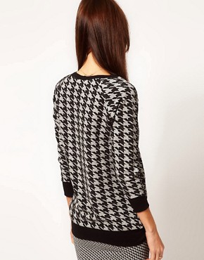 Image 2 ofWarehouse Hounds Tooth Sweat Top
