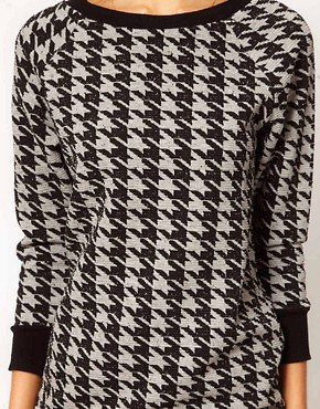 Image 3 ofWarehouse Hounds Tooth Sweat Top