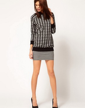 Image 4 ofWarehouse Hounds Tooth Sweat Top