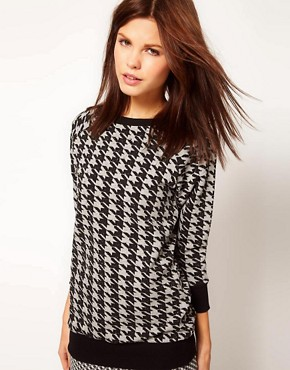 Image 1 ofWarehouse Hounds Tooth Sweat Top