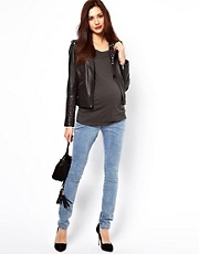 New Look Maternity Supersoft Acid Wash Jean