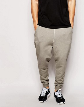 ASOS Drop Crotch Joggers With Oil Wash