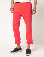 Hixsept Abstract Color Block Slim Chinos