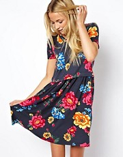 ASOS Smock Dress in Bright Floral Print