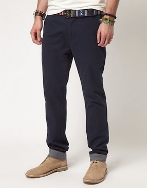 Image 1 ofASOS Slim Chino With Turn Up
