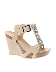 Carvela Nude Wedge Sandal