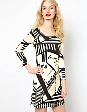 Sonia By Sonia Rykiel Graphic Print Jersey Dress