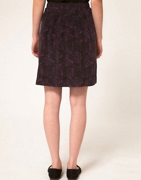Image 2 ofA.P.C Silk Crepe Printed Mini Skirt