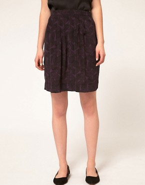Image 4 ofA.P.C Silk Crepe Printed Mini Skirt