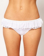 ASOS Crochet Ruffle Skirted Bikini Pant