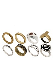 ASOS Eye Rock Megapack Rings