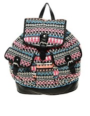 New Look Bright Ikat Backpack