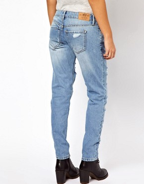 Image 2 ofRiver Island Boyfriend Jean with Rips