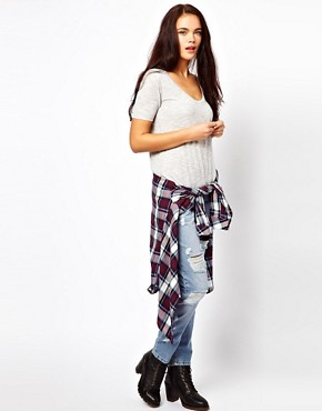 Image 4 ofRiver Island Boyfriend Jean with Rips