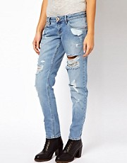 River Island Boyfriend Jean with Rips