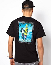 Maui And Sons T-Shirt Sharkman On The Beach Back Print