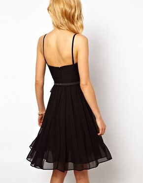 Image 2 ofMango Chiffon Drape Bustier Dress