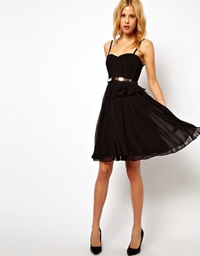 Image 4 ofMango Chiffon Drape Bustier Dress