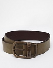 Diesel Wapr Leather Belt