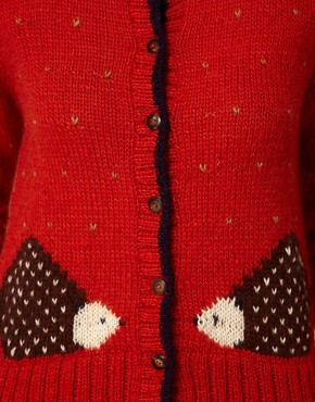 Image 3 ofAime by People Tree Wool Hedgehog Cardigan