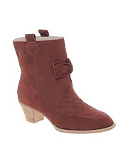 F-Troupe Heeled Bow Ankle Boots