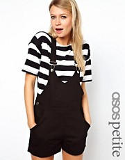 ASOS PETITE Exclusive Dungaree Playsuit With Deep V